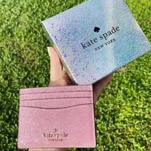 Glitter💕♠️Kate Spade Cardholder NEWINBOX
